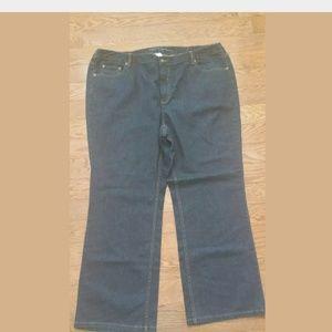 LIZ CLAIBORNE Slim Bootcut Blue Jeans Size 22W